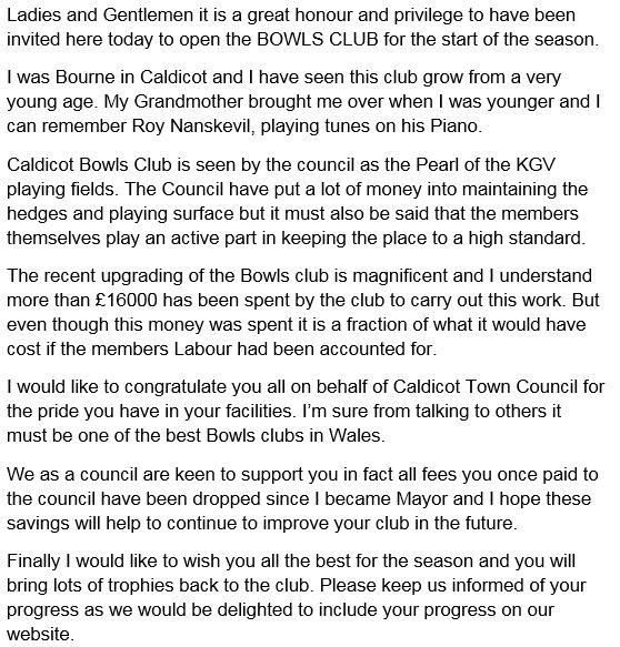 Mayors Board Cllr P Stevens 2017/2018 - Caldicot Town Council